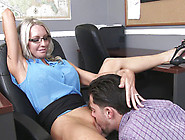 Strict Boss Emma Starr Forces Subordinate To Lick Her Pussy In O