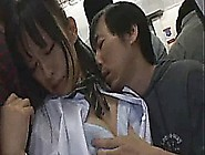 Innocent Japanese Teen Fucked On A Subway Train