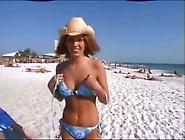Gal Undresses On Public Beach