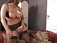 Susanne Takes Care Of Two Black Cocks In Threesome