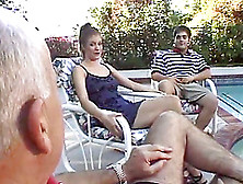 Housewife Next Door Has Her Own Gang Bang Party While Hubby'S Aw