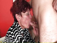 Redhead Granny Gives Good Head