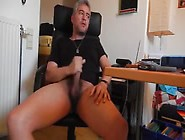Daddy Playing With His Cock On Webcam