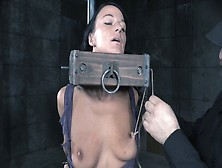 Dirty Slut With Saggy Tits Is Getting Her Nipples Pinned And Str