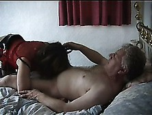 Mature Woman In Red Boots Gets Her Pussy Drilled By A Lusty Old