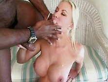 European Bbc Fucks Busty Blonde's Ass