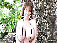 Hot Mom With Large Natural Bosoms Masturbates To Solo Orgasm