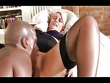 Silver-Haired British Milf Fucked By A Bbc