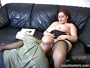Giantess Mistress Sits On Bald Man's Face