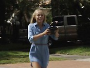 Cute Teen Whore And Fat Handjob Alone With A Drone