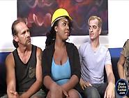 Busty Ebony Layton Benton Facialed By Many Big White Dicks
