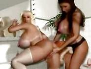 3D Big Tits Lesbians Get Horny