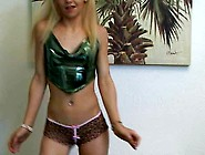 Blond. Teen. Flashing. Dancing