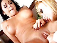 Busty Lez Milf Is Bent Over And Licked Until Cum