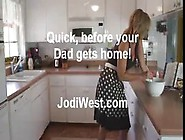 Horny Mom Fucks Son's Friend In The Kitchen And Begs For Cu
