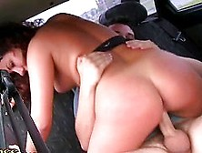 She Rides His Cock In The Car And Sucks It Deep