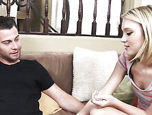 Petite Blondie Dakota Skye Gets Rammed On The Couch