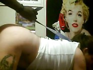 Mia's Leashed White Ass Bouncing Doggystyle Against Black Cock P