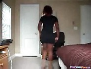 Ebony Teenie With Phat Booty Dances And Strips In Her Bedroom