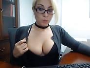A Secretary Caught Masturbate At Work