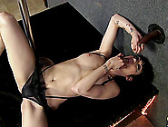 Steamy Asphyxia Noir Gets A Facial Cumshot After Pole Dancing