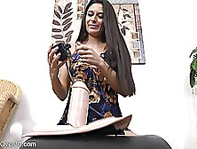 Horny Brunette With Hairy Pussy Is A Real Sybian Addict And Like
