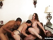 A Threesome With A Hard Black Cock Is What
