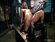 Slut Rides A Gimp On A Box