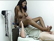 Busty Black Girl Kendra Lee Sends Her Sexy Feet Pleasing A White