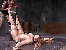 Horny Mistress Decides To Give Her New Slave A Good Vaginal Fist