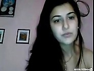 Indian Brunette Is Showing Her Nice Tits On Web Cam,  Because It