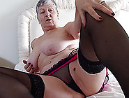 Short Haired Granny Savana Fingers Her Smooth Shaved Pussy In He
