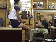 Amateur Teen Blonde Sucks Cock For Quick Pawn Shop Cash