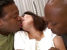 Jap Milf Entertains Black Guests
