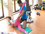 Fitness Freak Lady Dee Sucks Instructors Cock And Gets Fucked On