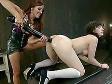 Brunette Chick Gets Her Ass Toyed,  Gaped And Fisted