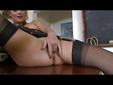 Schoolgirl Melodii Strips And Masturbates