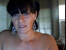 Mature Brunette Is Toying Her Ass In Front Of The Web Cam While