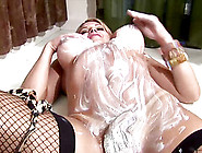 Curvy Shemale With Nice Ass In Stockings Stripteasing