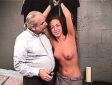 Nicole Gets Strung Up And Punished By Her Master With Clothespin