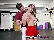 Busty Cheerleader Brooke Beretta Seduces Her Teacher