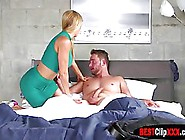 Dark Haired Babe Got Fucked In Her Bed Nd Then It Was Her Step-M