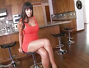 Mercedes Carrera Works Her Pretty Pink Toes On His Throbbing Coc