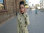 053 - Latex Trench Coat And Catsuit In Public