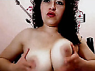 Chubby White Lady Has Amazing Big Tits And She Shows Them