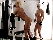 Two Mature Muscle-Women Teasing Each Other