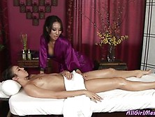 Asa Akira And Tiffany Tyler Are In The Massage Salon And They Ha