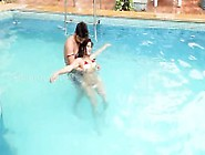 Sexy Housewife Seduced Young Boy In Swimming Pool