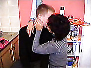 Russian Neighbor Milf Let Me Eat Her Hairy Pussy In The Kitchen