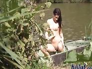Little Teen Gets Caught Masturbating Lake Side